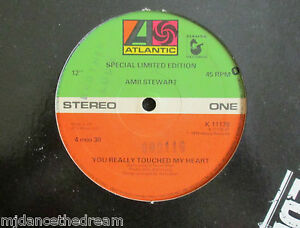 """AMII STEWART ~ You Really Touched My Heart ~ 12"""" Single"""