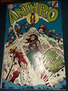 Anthro #2 10/68 dc 4.0 vg! Great Underrated Silver Age! Howie post jungle comic