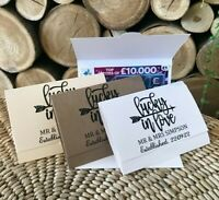 Scratchcard Wallet. Wedding Favour Idea. Lottery Ticket Card Table Favor Gift