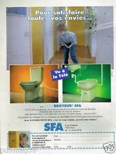 Publicité advertising 1996 Les Sanibroyeur SFA
