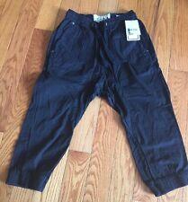 L.A.B Black  Men Cargo Capri Shorts Pant Size 32 Orig$ 60 100% Cotton New