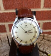 MENS Vtg 1950's OMEGA AUTOMATIC BUMPER WRISTWATCH CAL.351 2635-5 Stainless Works