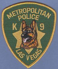 METROPOLITAN LAS VEGAS NEVADA POLICE K-9 UNIT SHOULDER PATCH