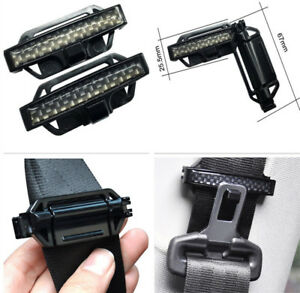 2pcs Black Car Seat Belt Buckle Safety Adjust Strap Seatbelt Clips Car Styling