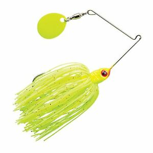 Booyah Micro Pond Spinnerbait - 1/8 oz - Lightning Bug, Bass Redfin Perch Lure