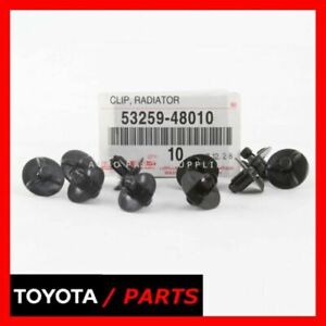 FACTORY LEXUS ES350 IS250 RADIATOR SUPPORT TO FRAME SEAL FENDER CLIPS QTY 10 OEM