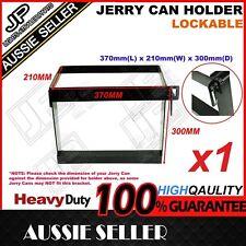 1x JERRY CAN HOLDER BLACK HINGE LOCKABLE OFFROAD CAMPING TRAILER CARAVAN CAMPER
