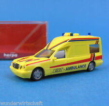 Herpa H0 045513 MB W 210 KTW RTW BINZ Ambulance OVP HO 1:87 Mercedes Benz Box