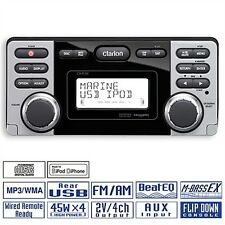 Clarion Impermeabile Marine BARCA YACHT BOAT CD mp3 RADIO RICEVITORE USB cmd8 8 CMD