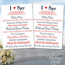 2 x Wedding I Spy Game Camera Kids Table Activity Favour Cards