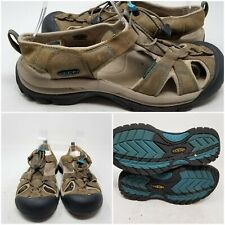 Keen Tan Outdoor Hiking Cord Lace Slip On Sandal Slides Womens Size 10