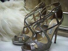 Jimmy Choo Vermeil Strappy Sandal Shoes Size 41
