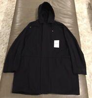 NWT Balenciaga Paris Mens Oversized Hooded Parka Black Cotton 50 Large $1715