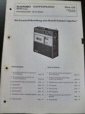 Original Service Manual  Blaupunkt  Kofferrradio Diva CR