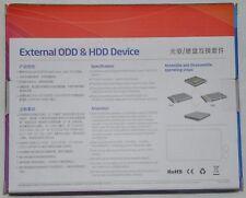 USB 3.0 SATA Laptop 12.7mm DVD Burner Drive ODD HD External Case Enclosure Caddy