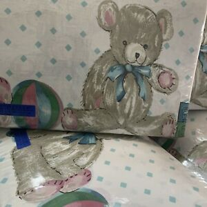 TEDDY BEAR BLUE   SINGLE BED QUILT COVER SET  (CHARLES PARSON)