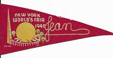 1940 New York World's Fair Felt Banner
