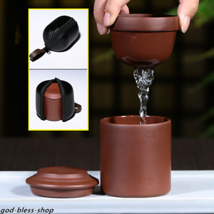 travel tea set with portable bag real yixing zisha tea cup with lid Chinese pot