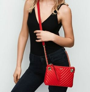 Victoria's Secret V-quilted Red Crossbody Bag, New.