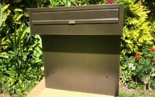 GOLD XXL HUGE MAIL Post Box for Gates and Fences mailbox outdoor