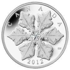 Crystal Snowflake - 2012 Canada $20 Fine Silver Coin