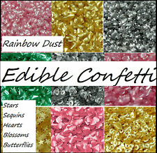 Edible Confetti Cake Sprinkles Toppers Cupcake Cake Decorating Sparkles!