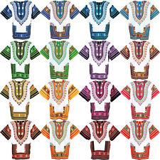 16 White Shade Dashiki African Mexican Poncho Shirt Blouse Cotton Unisex Var