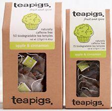 Apple & Cinnamon - Tea Pigs - 15 Biodegradable Tea Temples - Apple & Cinnamon