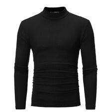 2018 Men Polo Roll Turtle Neck Pullover Sweater Jumper Tops Casual Slim M-2XL