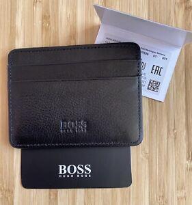 New Hugo Boss Credit Cardholder Black Leather