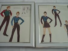 Framed Star Trek Art 8x10 proof concept Costumes hand drawn colour ranking
