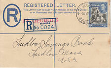Bermuda 4786 - 1941 REGISTERED COVER ST GEORGES to USA