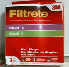 3M Filtrete, 64700B Hoover A, Bissell 2, Vacuum Cleaner Bags, Pack Of 3, Fs