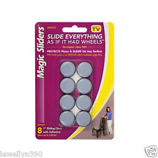 "MAGIC SLIDERS 1"" round (8 Pack) Grip Tip Floor Slide # 08025 NEW!"