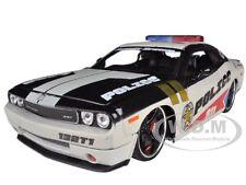 2010 DODGE CHALLENGER POLICE WHITE 1/24 CUSTOM MODEL CAR BY MAISTO 31342W-PO13