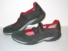 Timberland Casual Shoe, Black/Red, #43397-1827, Womens US Size 9.5