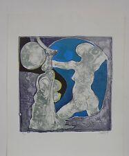 "Lithographie Originale de Gérard LECOMTE     "" NU I ""  ."