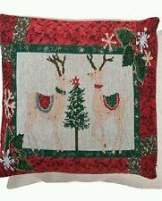 Clayre & Eef Kissenhülle Rentier Landhaus Nostalgie 40*40cm Weihnachten