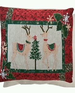Clayre & Eef Pillow Case Reindeer Cottage Nostalgia 40 15 11/16in Christmas
