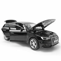 Audi A4 1/32 Model Car Diecast Toy Vehicle Kids Collection Sound Light Black