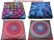 Indien Cotton Floor Pillow Patchwork Square Cushion Cover Dog Bed Ottoman 35""