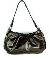 Women Simply Vera by VERA WANG Brown Alligator Crocodile Shoulder Purse Handbag