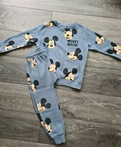 Boys Next Mickey Mouse Tracksuit 2 Piece Set Age 6-7 Years