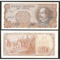 CHILE  10 Escudos 1967 UNC P 143 (1)