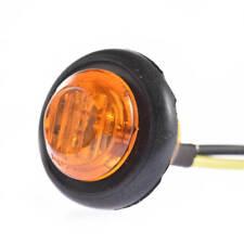 "50x 3/4"" Round Amber 12V LED Clearance Marker Small Truck Trailer Light RV Roat"