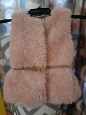 Little Lass Girls Pink Faux Fur Vest Size 18 mos