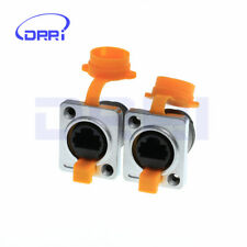 2pcs RJ45 waterproof connector sockets,Ethernet connector IP65 panel mount