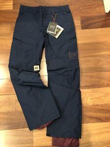 NEW Burton AK Swash Pant Gore Tex 2L Layer - Men's Medium Dress Blue