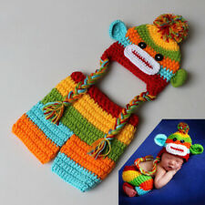 Newborn Baby Crochet Knit Colorful Monkey Costume Photography Prop Outfits