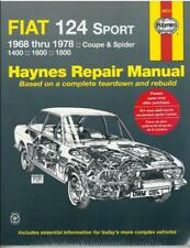 Haynes Workshop Manual Fiat 124 Sport 1968-1978 Coupe Spider New Service Repair